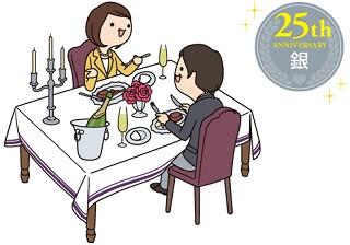 25周年 銀婚式の名前の意味と関連するプレゼント