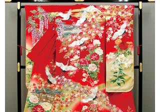 【富士屋ホテル】世界に一つだけのオリジナル色打掛『絆』が完成!
