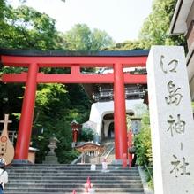海の見える神前式は江島神社で