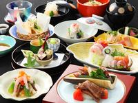 桜茶と祝小鯛を無料でご用意いたします