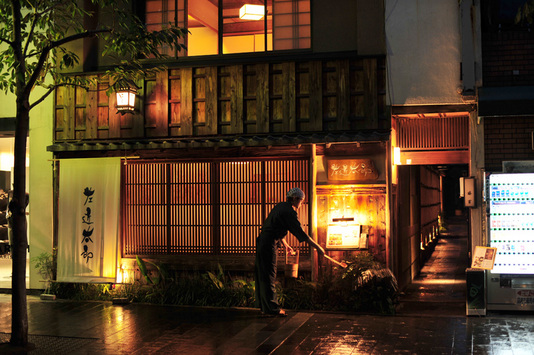 京の風情漂う上木屋町通り沿いに軒を連ねる左近太郎