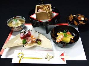 祝お祝い用の食材を使用した祝懐石